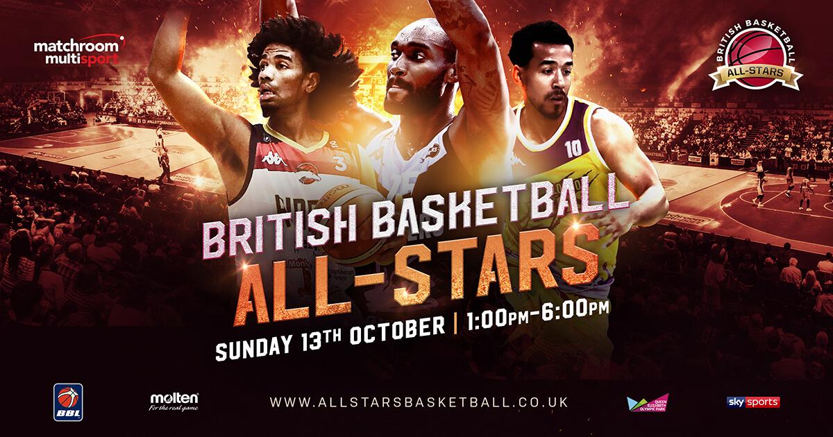 BRITISH BASKETBALL ALL-STARS CHAMPIONSHIP RETURNS OCTOBER 13